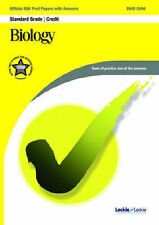 Biology Credit SQA Past Papers (Official Sqa Past Paper) Very Good Book