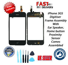 Digitiser & Frame Assembly with Home Button Ear & Speaker + Tools for iPhone 3GS