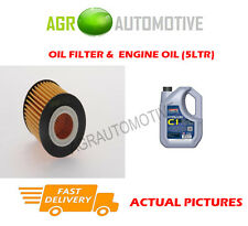 PETROL OIL FILTER + C1 5W30 ENGINE OIL FOR MAZDA 3 2.3 260 BHP 2006-09