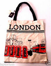 Primark Ladies Girls Primark Licensed Canvas Tote Shopping Bag 'London'