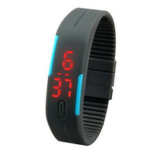Prix Bas Ultra Fine Hommes Unisexe Sports Silicone Digital LED Montre Bracelet