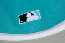 LOT OF 4 New Era SIZE 7 Florida Marlins Fitted 5950 Teal MLB CAPS Baseball Hats