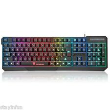 MotoSpeed K70 7 Color Backlight Gaming Keyboard USB Powered for Desktop Laptop
