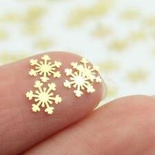 Gold Snowflakes Nail Art Metal Decorative Decals Stickers Xmas Christmas Gift