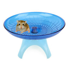 Flying Saucer Exercise Wheel Hamster Mouse Cage Toy 18cm Blue