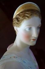 Bust Statue Diana Artemis Hand Painted Bisque Parian Greek Goddess Antique Pocel
