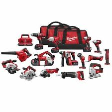 NEW MILWAUKEE 2695-15 M18 18 VOLT DELUXE 15PC TOOL CORDLESS TOOL COMBO SET