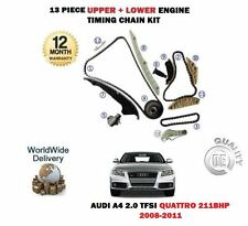 Per AUDI A4 2.0 TFSI 2008 -- & GT quattro MOTORE cdnc UPPER + LOWER TIMING CHAIN KIT