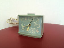 Vintage Electric Westclox Softee Dialite Alarm Clock-Baby Blue -Model 22256- USA