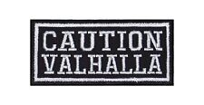 Caution Valhalla Biker Heavy Rocker Patch Aufnäher Kutte Bügelbild Badge Stick