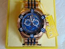 "Invicta 50mm Jason Taylor ""LE"" Signature Swiss Chrono 18K IP Rose Gold SS Watch"