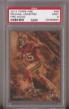 2014 Topps Fire Fire Wood #49 Michael Crabtree 49ers serial #'d 12/25 PSA 9 Mint