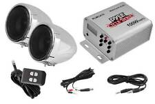 NEW Motorcycle Stereo Speaker Sound System.w/ amplifier.iPod cbl.ATV.snow mobile
