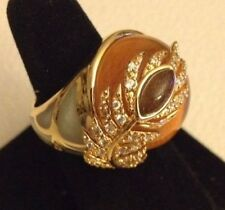 Cristina Sabatini GP Sterling Silver and Resin Ring Size 6 Champagne Color