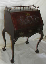 Antique Fancy Mahogany drop front Small Writing ladies Desk – Horner Company