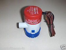 12 volt DC submersible pump 750 GPH water fountian-marine bilge-solar-pond-RV