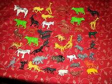 VTG 1970s Lot of Plastic Animal Figures Hong Kong Zoo Farm Horses Camel Elephant