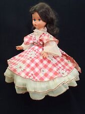 "1960's FURGA 17"" Doll / Puppen in tagged dress Made in Italy Beauty!"