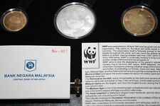 (PL) NEW: 2011 MALAYSIA 50 YEARS WWF 3 PROOF COINS GOLD SET - COA 057 LIMITED