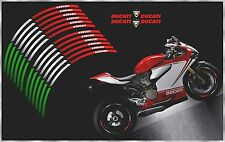 DUCATI CORSE PANIGALE HYPERSTRADA MONSTER 1098 1198 848 WHEEL RIMS STRIPE DECALS