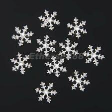 10 Crystal Snowflake Rhinestone Wedding Invitation Embellishment Button 14mm