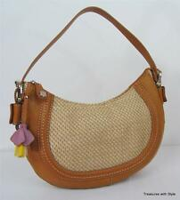 RELIC By Fossil Brown Faux Leather Flower Detail Hobo Shoulder Bag NEW NWT $47
