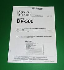 Original Pioneer DV-500 Service Manual