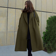 NEW Womens Oversized Long Coat Hooded Outwear Trench Windbreaker Jacket Parka UK