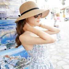 Women's Wide Brim Summer Beach Sun Hat Straw floppy Elegant Bohemia cap