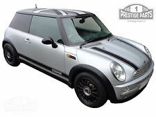 Genuine 3M vinyl BLACK bonnet & side stripes for Mini Cooper R50 - top quality