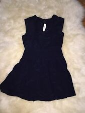 NEW J.CREW SILK SMOCKED-WAIST DRESS F2541 SIZE 12 NAVY $158 SOLD OUT!!