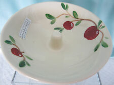 Emerson Creek Pottery Apple Baker Cherries & Leaves Design Handpainted New in bx