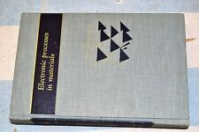 Book Electronic Processes In Materials Azaroff & Brophy McGraw-Hill 1963