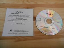 CD Hiphop Patrice - Every Second (1 Song) Promo GROOVE ATTACK