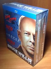 Bruce Willis Collection Sin City/Red/Red2/Looper (Blu Ray) *New,SEALED*