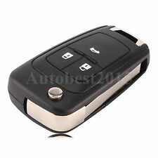 Flip Folding 3 Button Flip Remote Key Shell Case Cover Fob for Chevrolet Cruze
