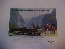 original vintage 1972 Chevrolet Caprice full-color ad--sized for easy framing