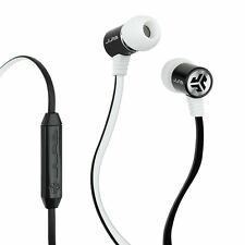 JLab BASS DJ Inspired In-Ear Earbuds - Black/White Universal Mic/Track Control