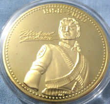 Michael JACKSON GOLD COIN AUTOGRAFATO MJ re del pop music singer Legend Hero US
