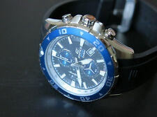 Casio EDIFICE EFM501-1A2 Men's Black/Blue Chronograph Watch 200M Resin Band