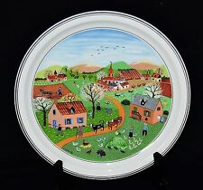 Villeroy & Boch Naif The Four Seasons #1 Plate Printempts Spring w/Box