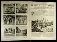 1899 = LE CENTO CITTA D'ITALIA = SAN GIMIGNANO (SIENA)  = PIEMONTE.ETNA.SONZOGNO