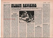 SANDY DENNY  ALLMAN BROTHERS album reviews 1971 UK ARTICLE / clipping