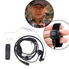 Walkie Talkie Throat MIC Covert Acoustic Tube Earpiece PTT for Baofeng QUANSHENG