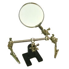 Magnifier Magnifying Glass Clamp Helping Hand Adjustable Soldering Stand Station