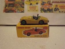 Dinky 105 Triumph TR2 Sports Car restored and boxed