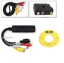 USB VHS CONVERTITORE VIDEO / DVD CONVERTITORE / Capture COMPLETA SCART KIT + PORTA