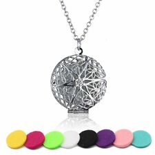 DIY + 5 Pads Aromatherapy Oil Diffuser Flower Living Essential Necklace Doterra