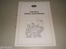 Schulungsunterlage Arbeitsmaterial Lehrgang Range Rover Diesel Motor Elektronik