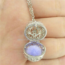 Fragrance Essential Oil Aromatherapy Perfume Diffuser Flower Necklace Locket